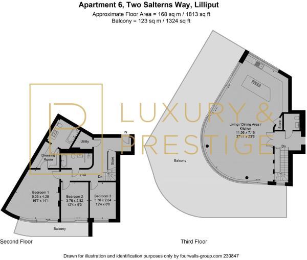 Apt 6, Two Salterns Way - Floorplan