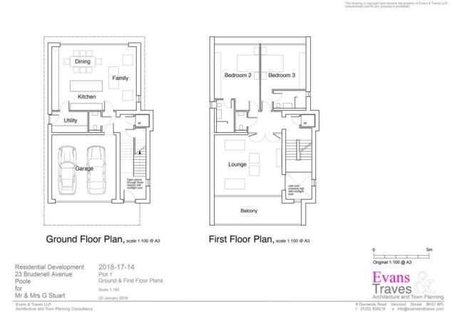 Plot 1  - Ground and First Floor Plans