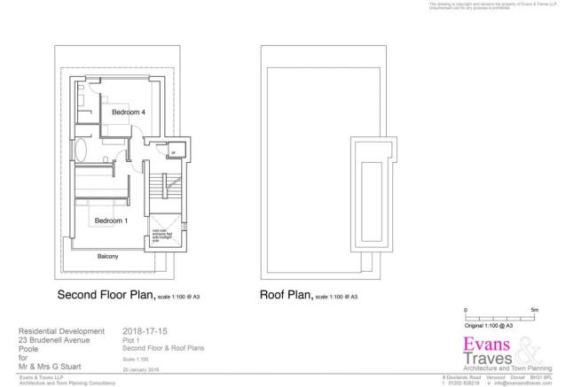Plot 1  - Second Floor and Roof Plans