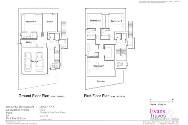 Plot 2 - Ground and First Floor Plans