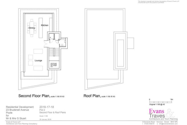 Plot 2 - Second Floor and Roof Plans