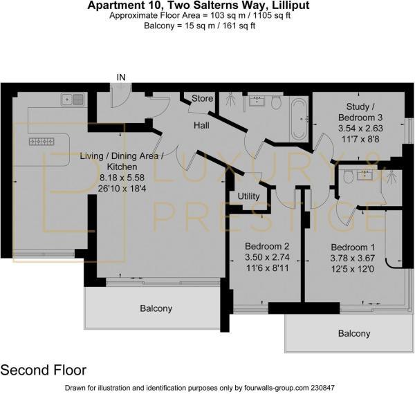 Apt 10, Two Salterns Way - Floorplan