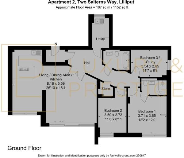 Apt 2, Two Salterns Way - Floorplan