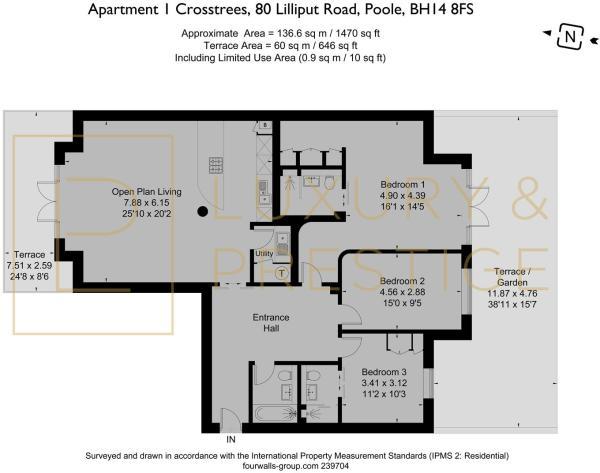Apartment 1 80 Crosstrees - Floorplan
