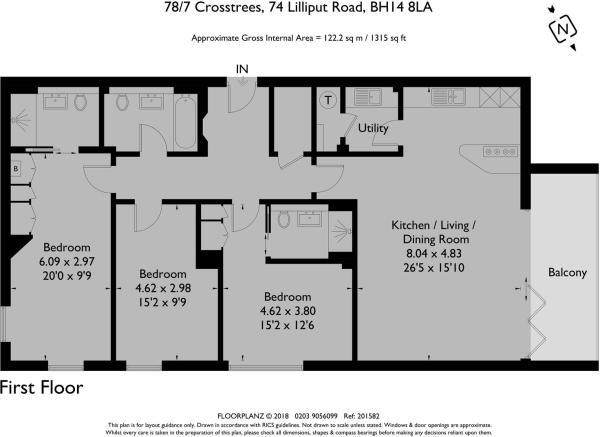 78/7 Crosstrees - Floorplan