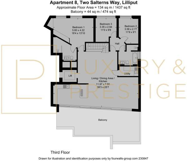 Apt 8, Two Salterns Way - Floorplan