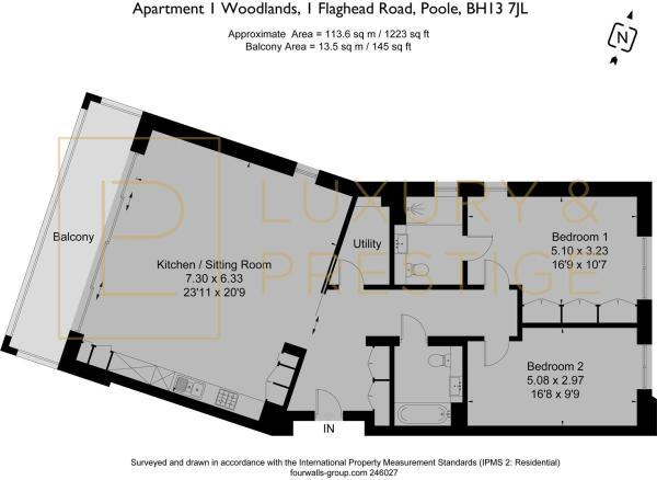 Apartment 1 Woodlands - Floorplan