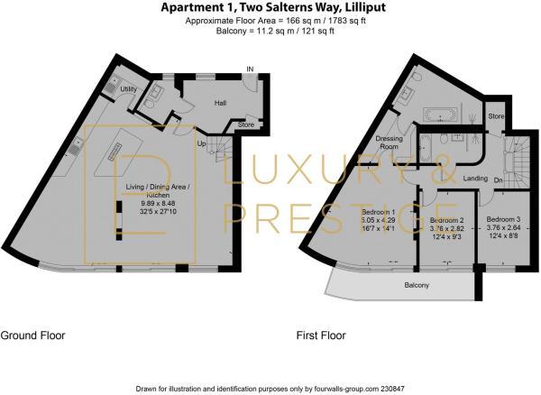 Apt 1 Two Salterns Way - Floorplan