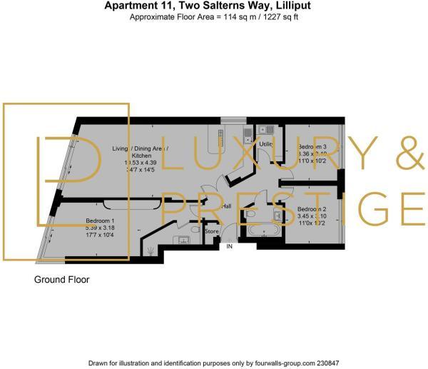Apt 11, Two Salterns Way - Floorplan