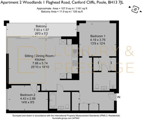 Apartment 2 Woodlands - Floorplan