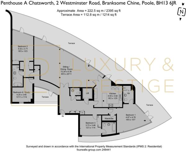 Penthouse A Chatsworth - Floorplan