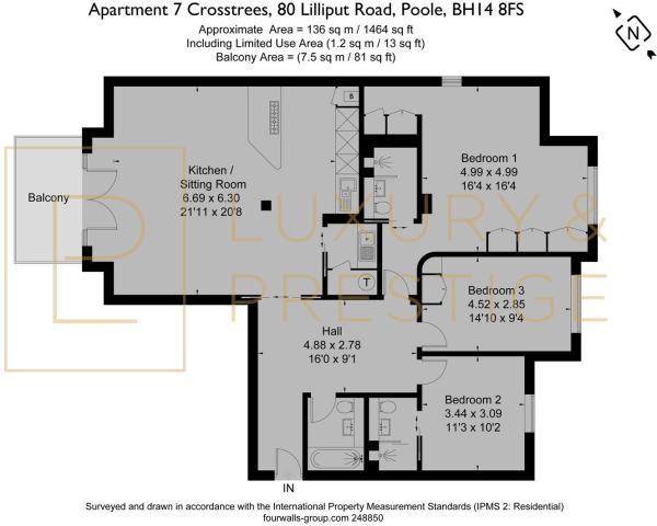 Apt 7, 80 Crosstrees  - Floorplan