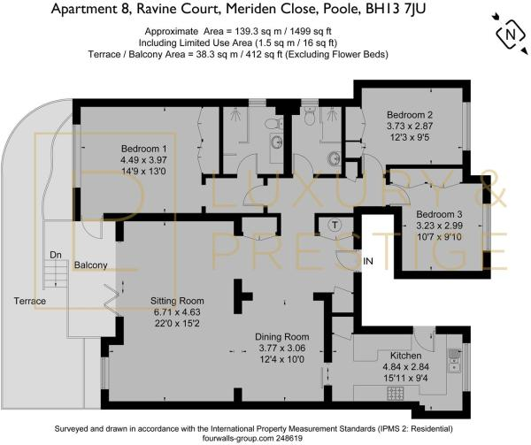 Apartment 8 Ravine Court - Floorplan