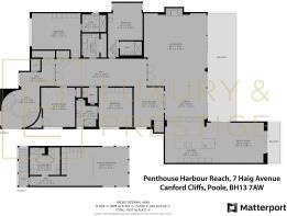 Penthouse Harbour Reach - Floorplan