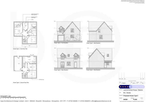 House Type 3 - Elevations and Floor Plans - Plots