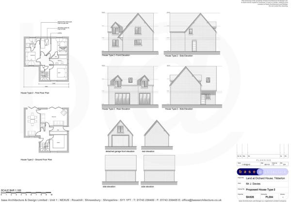 House Type 2 - Elevations and Floor Plans - Plots