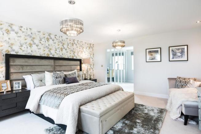 Master bedroom with dressing area and en suite