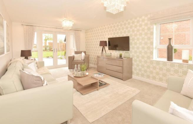 Alnwick lounge with French doors