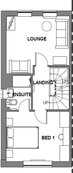 Hawley first floor plan