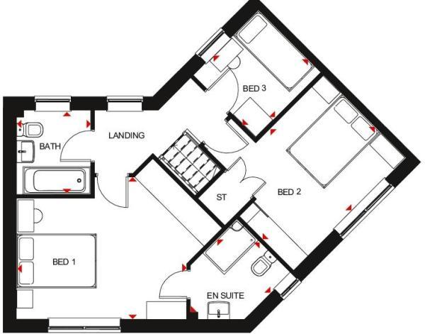Eskdale first floor plan