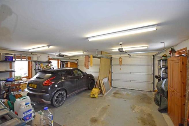 Sandaig - double garage internal
