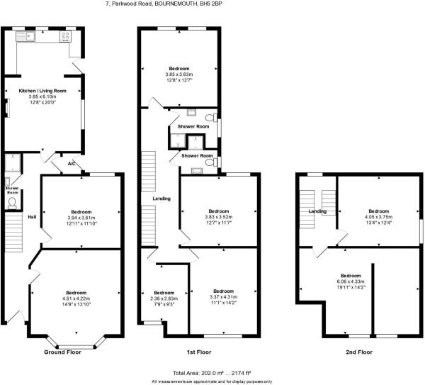 Floorplan - 7, Parkwood Road, BOURNEMOUTH, BH5 2BP(2)