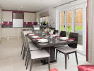 Spectacular kitchen / living / dining area with bi-fold doors