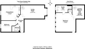2D floor plan - black and white - 146 Scotney Gard