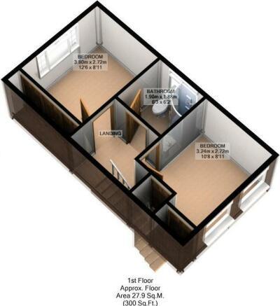 FLOOR PLAN: 3D: FIRST FLOOR