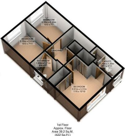 FLOOR PLAN: 3D: FIRST FLOOR: