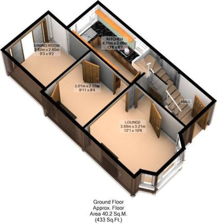 FLOOR PLAN: 3D: GND FLOOR: