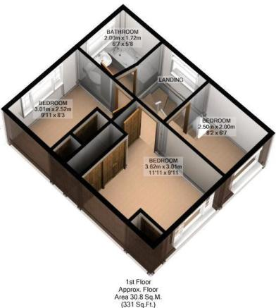 FLOOR PLAN: 3D: FIRST FLOOR:
