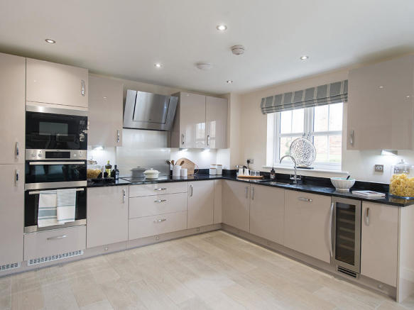 High specification kitchen with integrated appliances