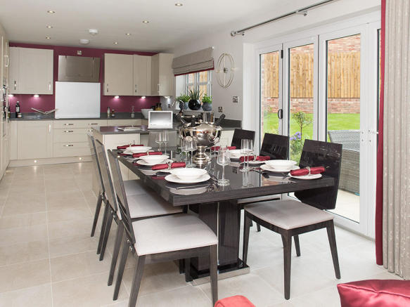 Fully fitted Kitchen and dining area with bi-fold doors to the outside