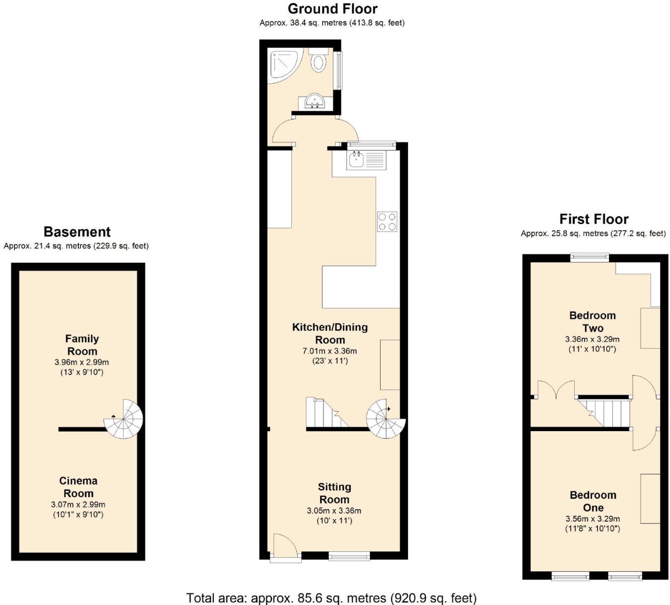 2 bedroom terraced house for sale in Belle Vue Road, Swindon ...