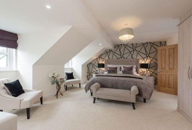 Luxurious master bedroom with en-suite