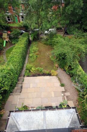 Garden view from mas