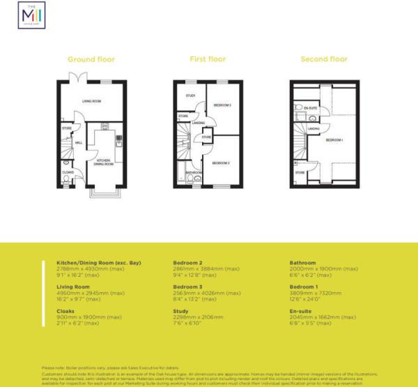 The Oak Floorplans