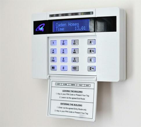 Example alarm control panel