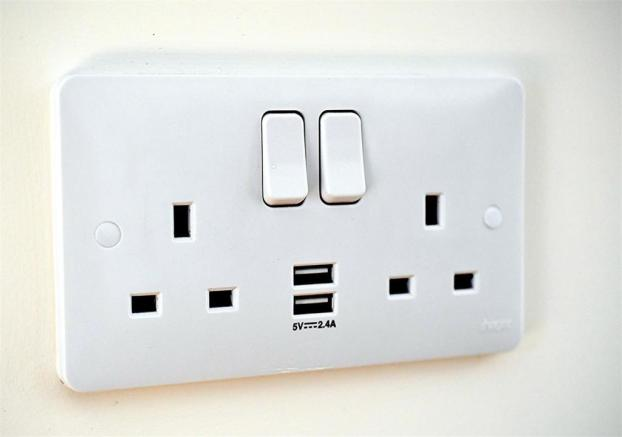 example socket with USB ports
