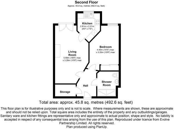 floorplan 27 Martin Court, St Catherines Road, Gra
