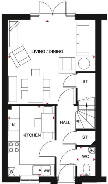 Barwick ground floor plan