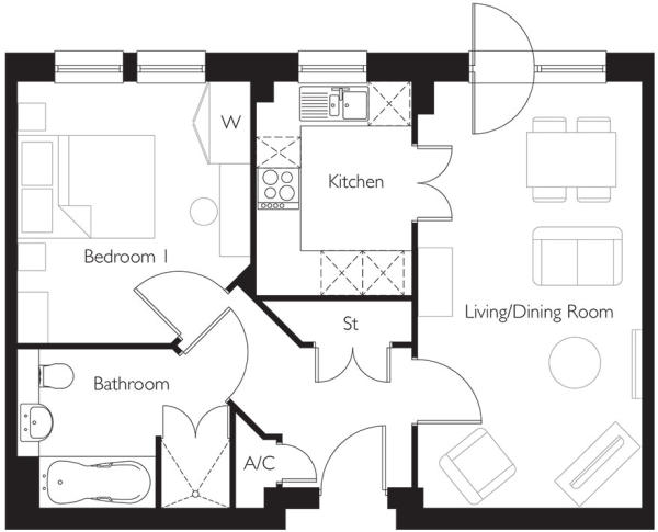 Apartment 34 plan