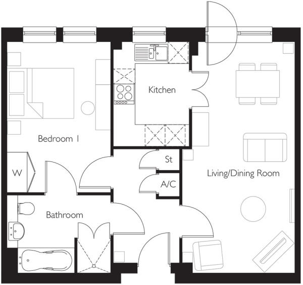 Apartment 50 plan
