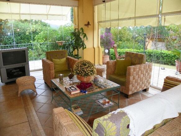 glass terrace