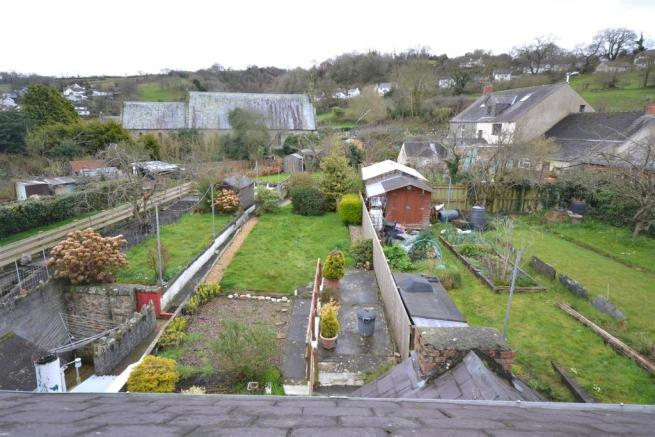 View of Garden from attic room