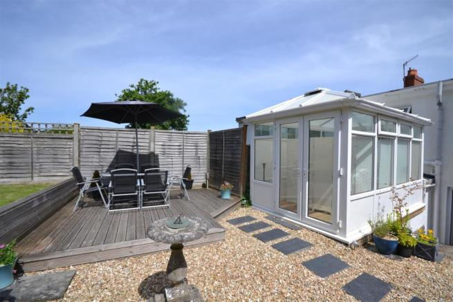 Decking and Conservatory