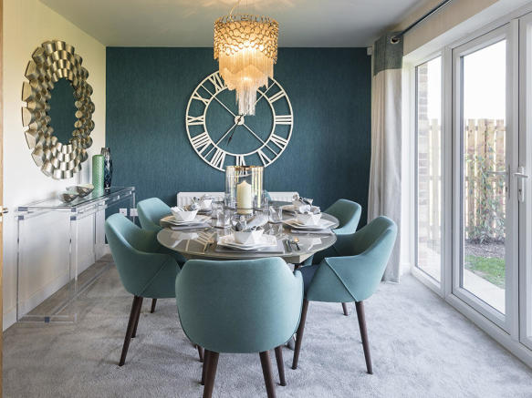 Large dining area to kitchen