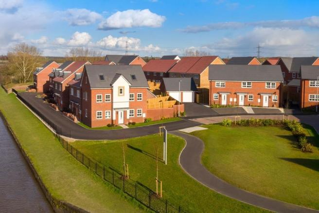 Outside view of the homes at Henbrook Gardens in Stoke Prior