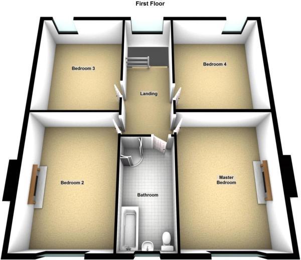Tigh-Na-Bruiach, Amulee, Dunkeld - Floor 1.JPG